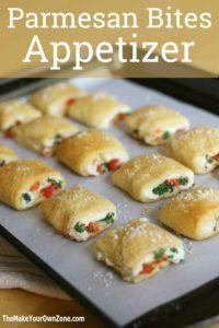 crescent roll parmesan bites appetizer