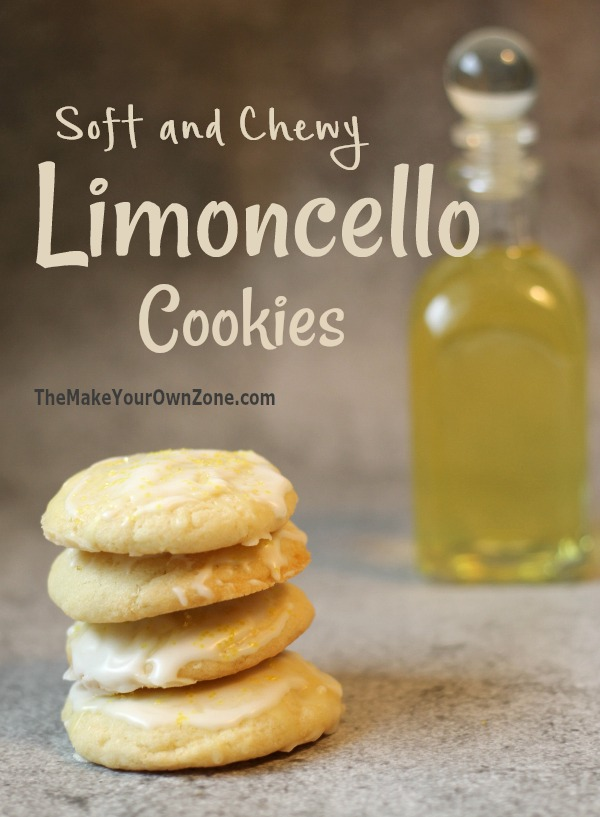 Recipe for limoncello cookies - soft and chewy limoncello cookies with limoncello glaze