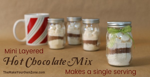 How to make a single serve miniature layered hot chocolate mix