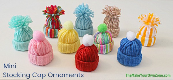 d5cd32dda33 Easy Yarn Craft - Mini Stocking Cap Ornaments - A fun kids craft too!