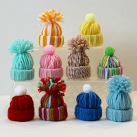 Easy Yarn Craft - Mini Stocking Cap Ornaments - A fun kids craft too!