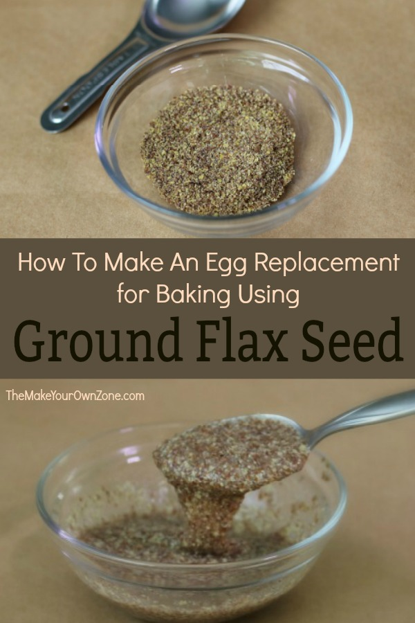 How to use ground flax seed as an egg replacer in baking recipes