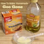 Recipe for homemade Goo Gone using easy items you already have in the kitchen