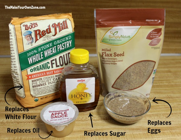 How to replace ingredients to make a healthier muffin