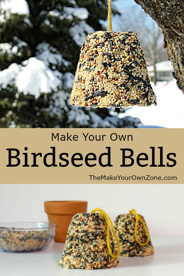 Homemade birdseed bells - Make your own birdseed bells with this easy method