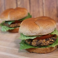 Black Bean Burgers For Two