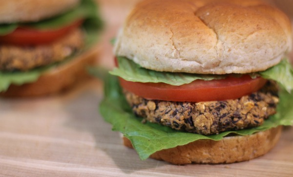 Recipe for Black Bean Burgers For Two - a healthy, frugal and plant-based option for dinner
