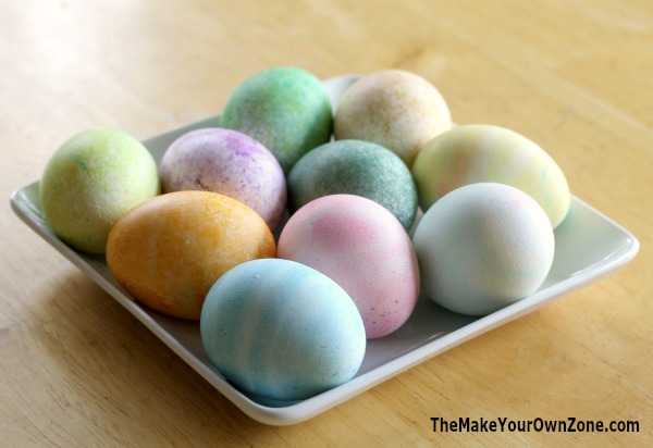 How to dye Easter eggs using food coloring, rice, and cool whip