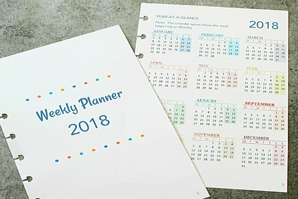 Complete dated planner - Week over two pages - printable