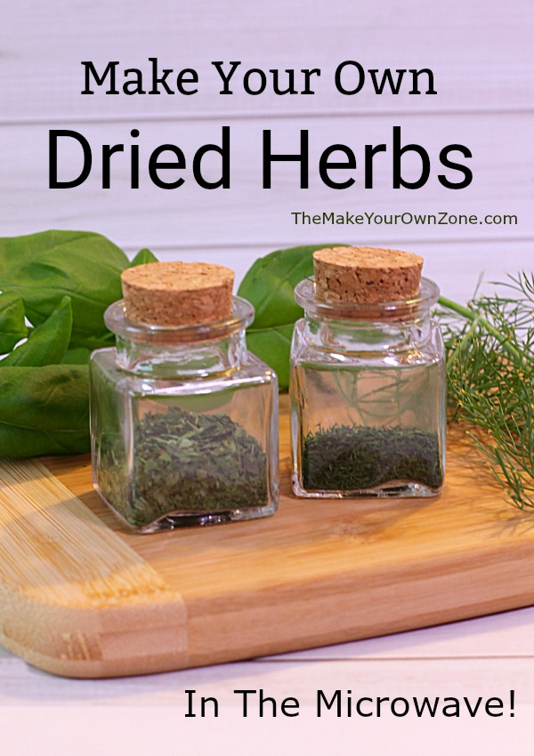 How to dry herbs in the microwave. A great way to preserve your basil, dill, parsley, or other fresh herbs.