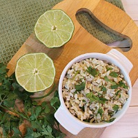How to make cilantro lime brown rice