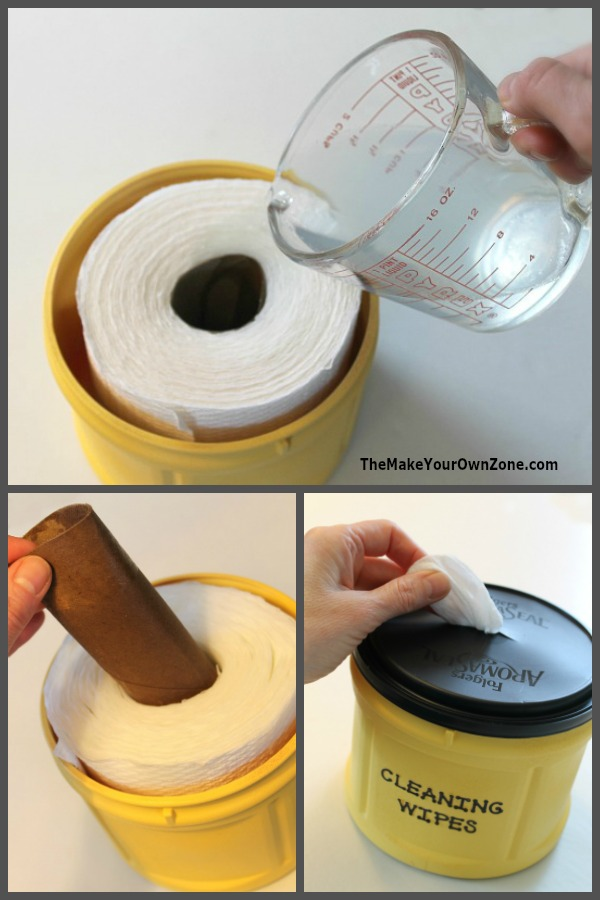 Homemade disposable cleaning wipes made with natural ingredients
