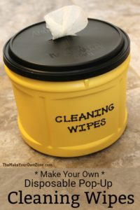 Homemade disposable cleaning wipes using natural cleaning ingredients