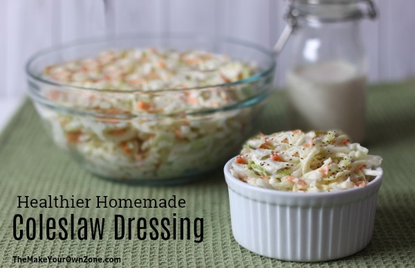 How to make healthier homemade coleslaw dressing