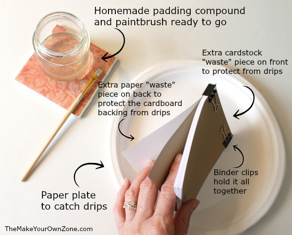 How to assemble and make your own notepads using your own DIY padding compound