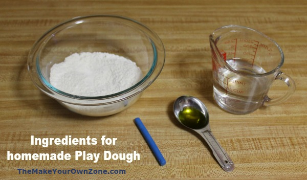 Make your own homemade play dough using simple ingredients