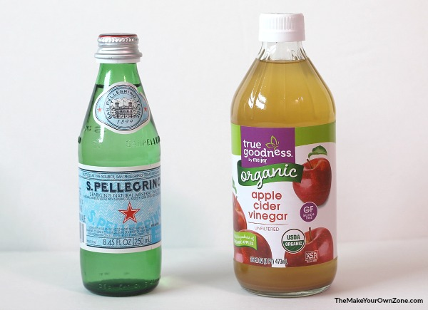 Use recycled glass bottles for DIY spray bottles for homemade cleaners