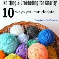 where to donate knitted goods to charity