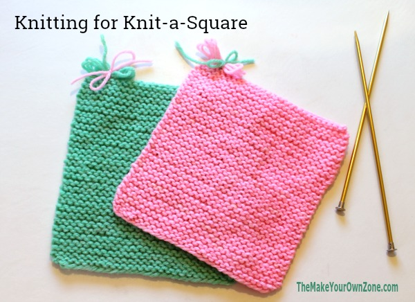 Knit square for charity