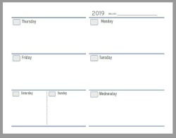 photograph relating to Weekly Agenda Printable titled 2019 Totally free Printable Planner Internet pages - The Create Your Individual Zone