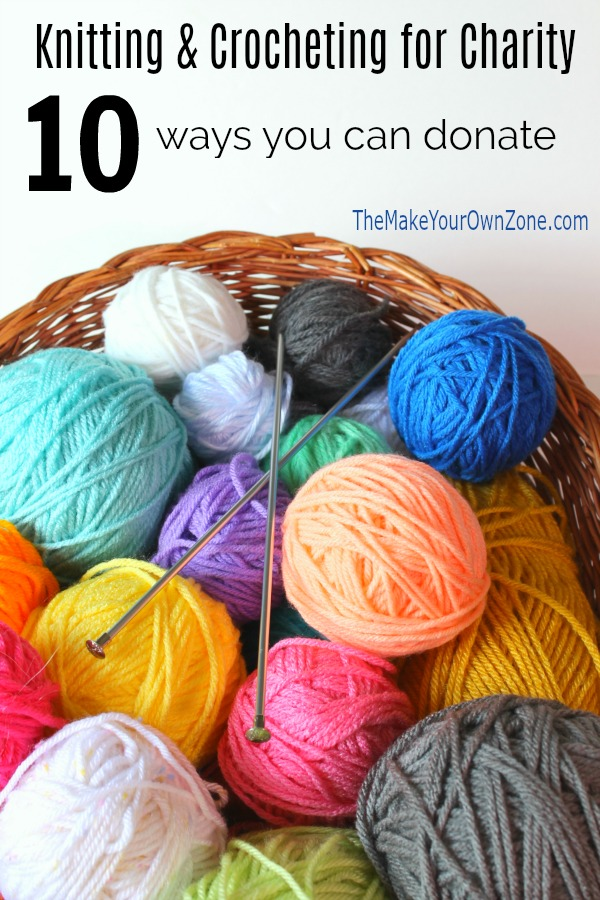 10 ways to donate your knit or crochet items to charity