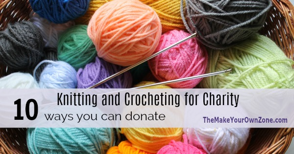 How to donate knit and crochet items to charity