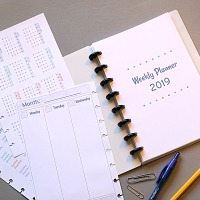 2019 free printable planner pages