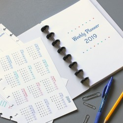 Free weekly 2019 planner pages for Arc notebooks