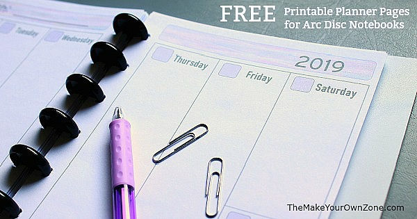 graphic relating to Free Personal Planner Printables called 2019 Totally free Printable Planner Internet pages - The Create Your Personalized Zone