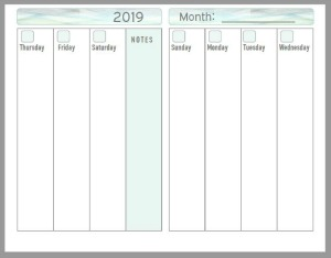 Free printable weekly planner pages for 2019