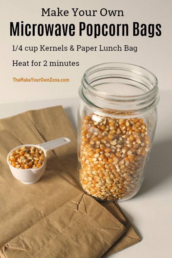 Make your own homemade microwave popcorn bags