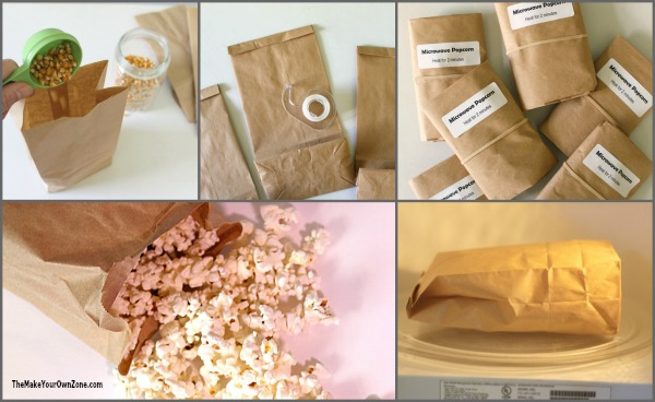 Make Your Own Microwave Popcorn Bags - The Make Your Own Zone