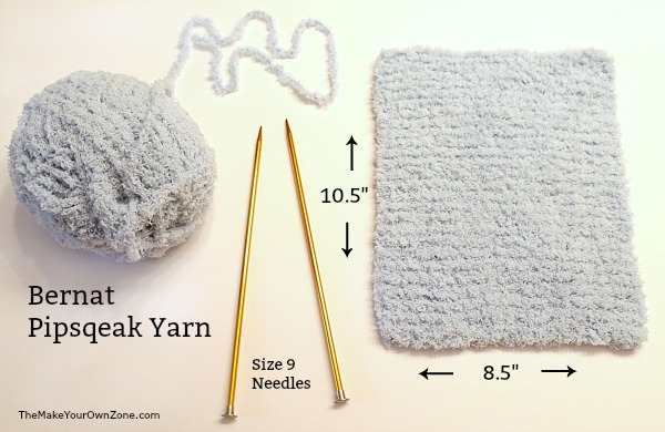 How to knit a homemade reusable swiffer cover