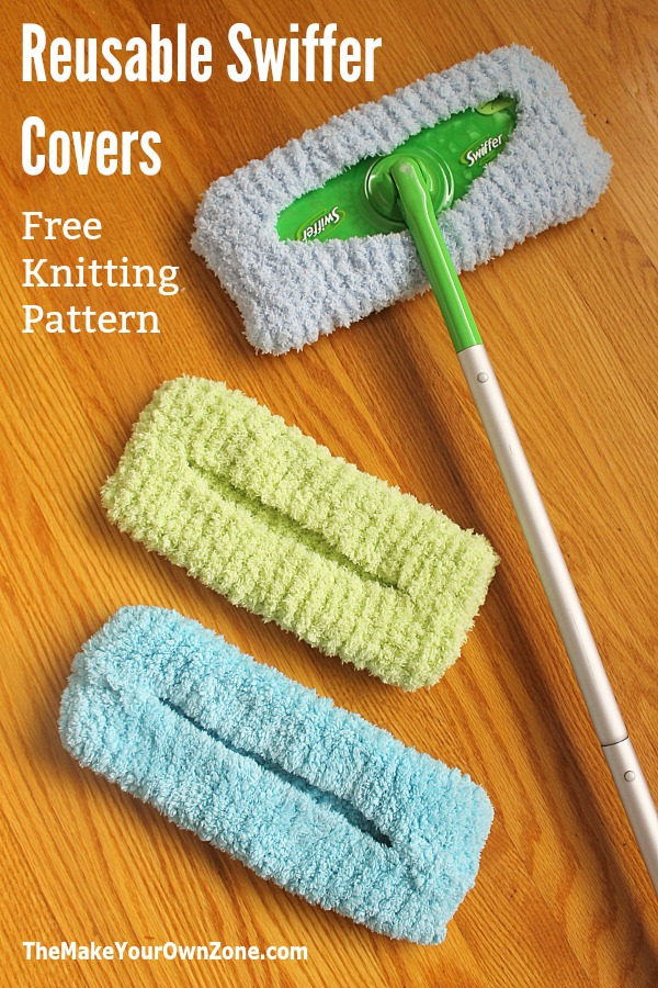 Free knitting pattern for a reusable knit Swiffer cover. Save money and make your own!