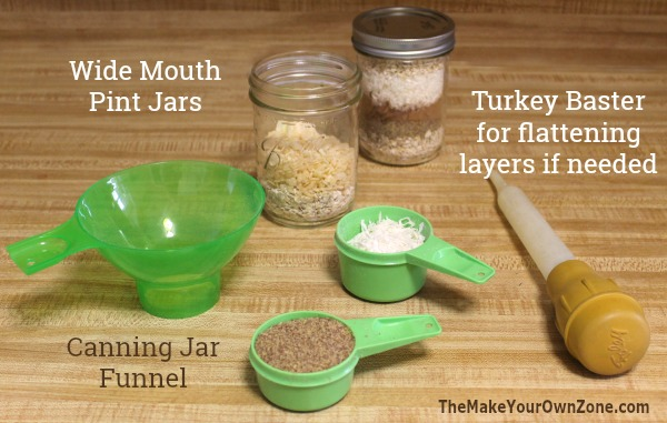 How to make a layered jar mix for healthy snack bites