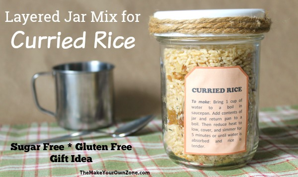 How to make a layered jar mix for curried rice for quick and simple gift giving