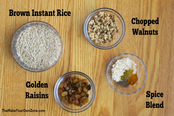 How to make a curried rice layered jar mix