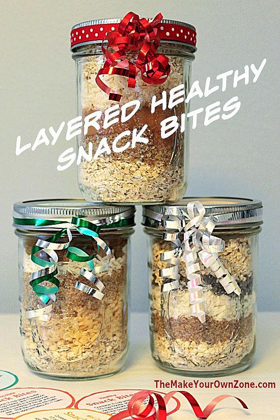 jar mix to make healthy energy snack bites