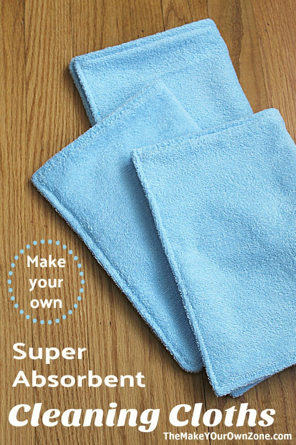 Make your own homemade cleaning cloths with this easy sewing tutorial.