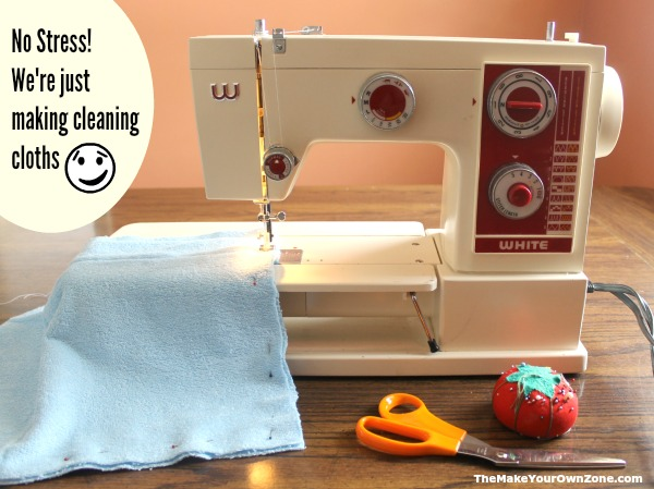 Easy sewing tutorial to make homemade cleaning cloths