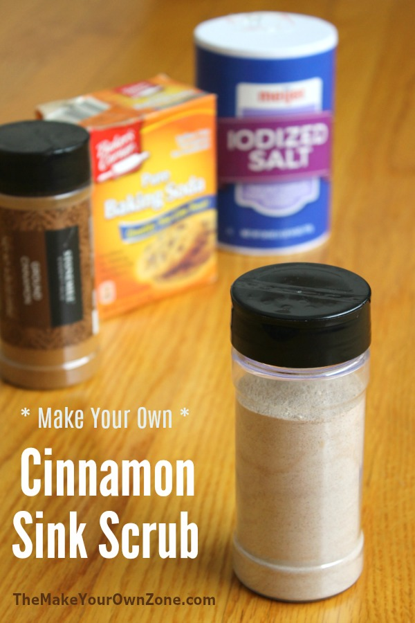 How to make an all natural cinnamon sink scrub cleaner with common pantry ingredients