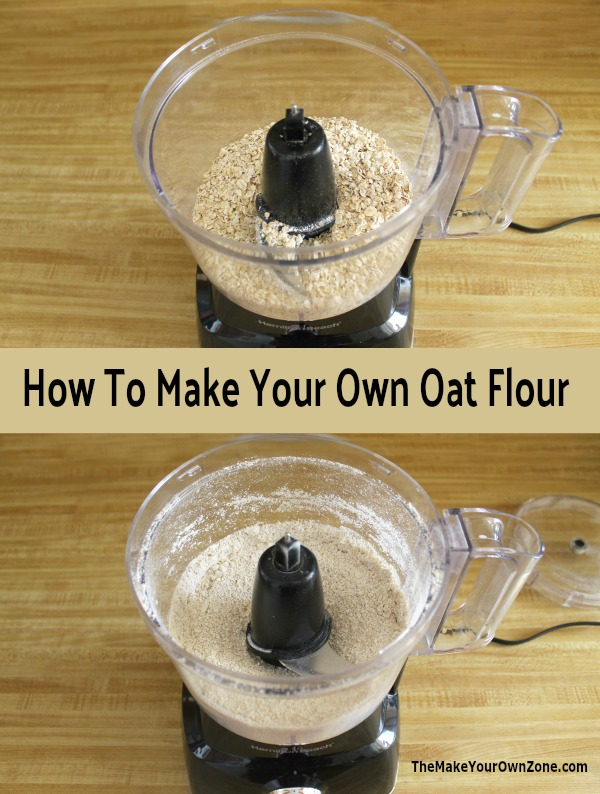 How to make your own oat flour using quick oats and your food processor