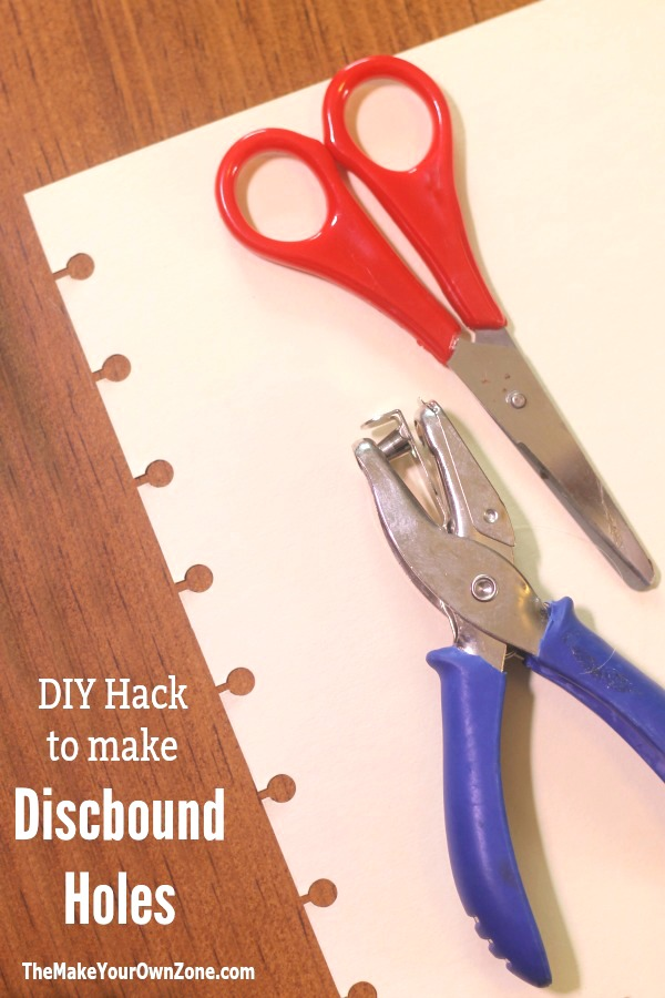 How to make discbound holes if you don't have a special punch