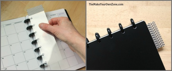 How to make your own discbound plastic bookmark