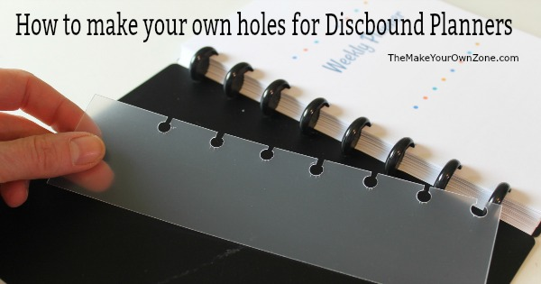 How to make your own holes for discbound planners