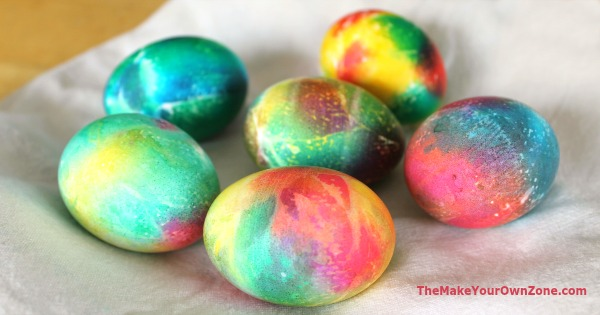 Make your own tie dye easter eggs