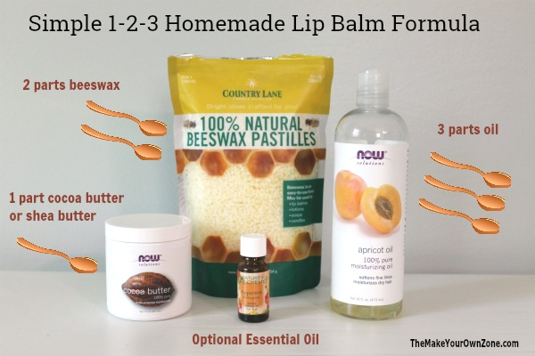 Simple formula to make your own chapstick lip balm