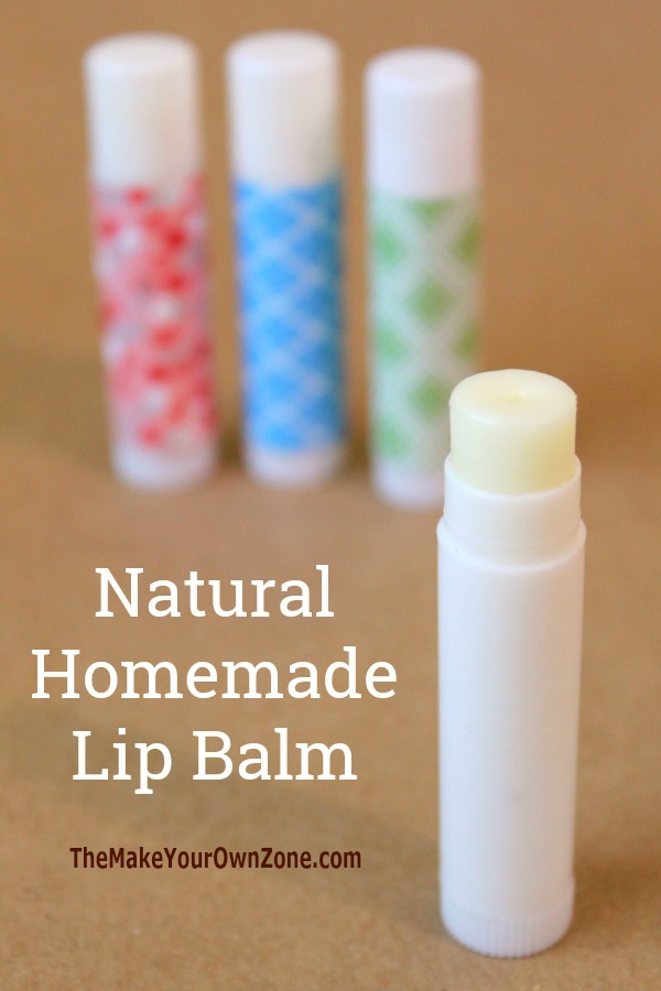 How to make natural homemade lip balm in small batches