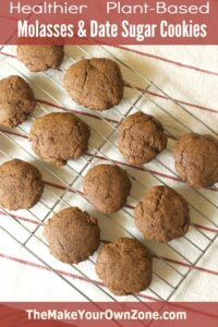 Healthier Homemade Molasses Cookies