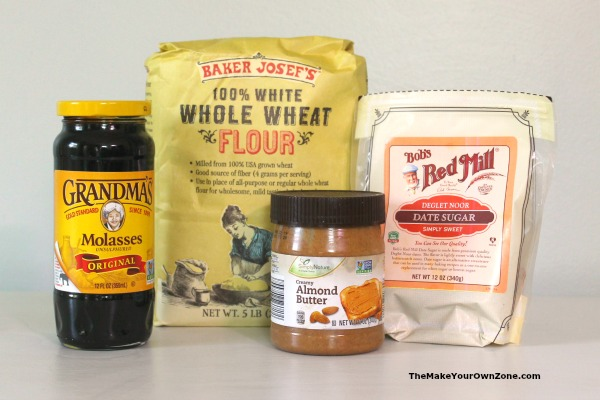 Ingredients for homemade molasses cookies